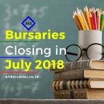 Bursaries Closing withing 30 July, 2018