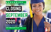 Bursaries Closing in September 2020