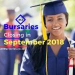 Bursaries Closing September 2018