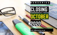 Bursaries Closing in October 2020