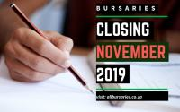 Bursaries Closing in November 2019
