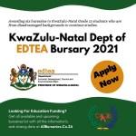 KwaZulu-Natal Dept of Economic Development, Tourism and Environmental Affairs (EDTEA) Bursary South Africa