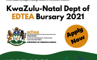 KwaZulu-Natal Dept of Economic Development, Tourism and Environmental Affairs (EDTEA) Bursary South Africa