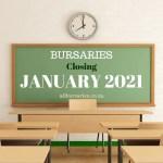 Bursaries Closing in January 2021