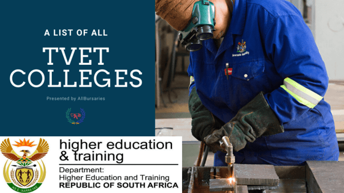 List of All TVET Colleges in South Africa