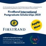 FirstRand International Postgraduate Scholarships