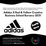 Adidas X Red & Yellow Creative Business School Bursary 2021