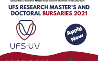 UFS Research Master's and Doctoral Bursaries