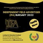 Independent Field Advertiser Bursary