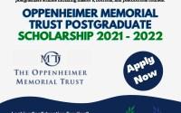 Oppenheimer Memorial Trust Postgraduate Scholarship