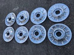 57 hubcaps without medallions 150b