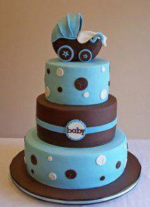 giant eagle baby shower cake