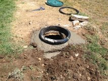 during septic riser Install