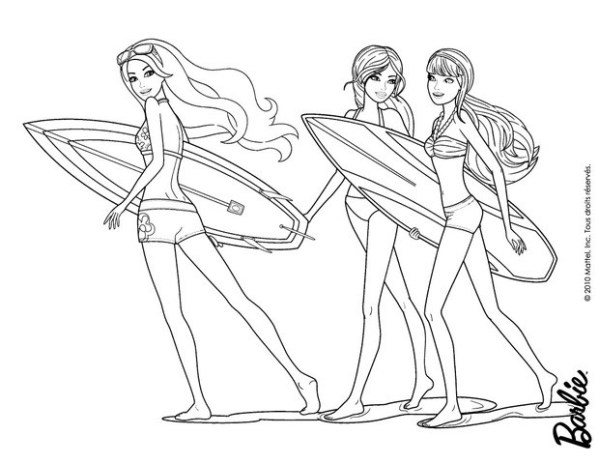 barbie coloring pages # 62