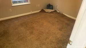 When you have a water damage blowers are needed between the carpet and pad to Dry them