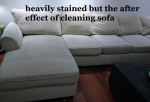 Upholstery Cleaning sectional on Vinyl Flooring