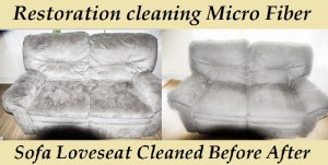 Loveseat clean before after