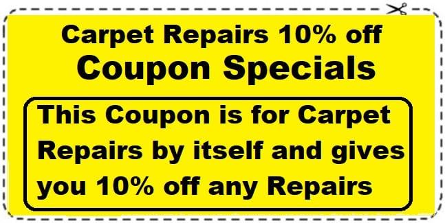 carpet repair coupon save 10%