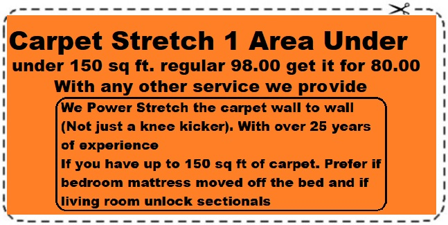 carpet stretch 1 area