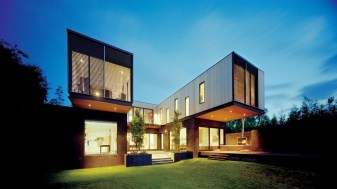 The Contemporary Side Of A Victorian House Designed