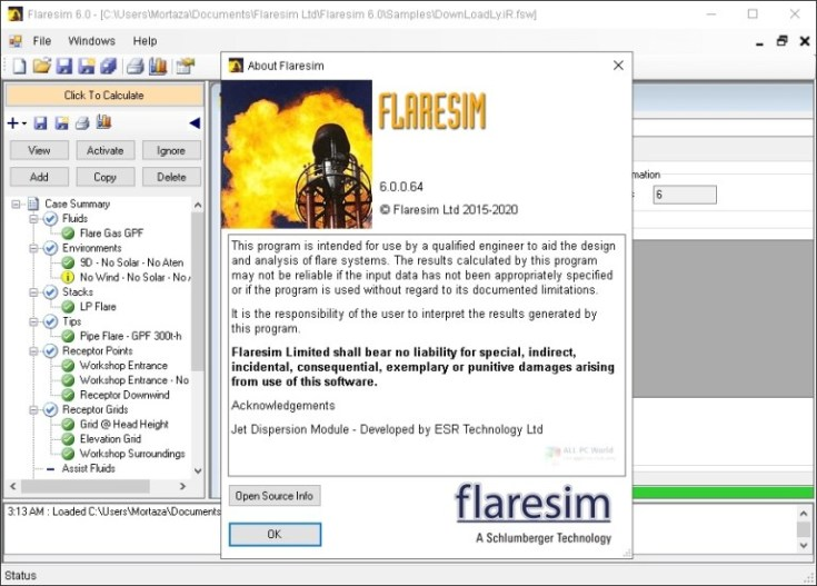 Schlumberger-Flaresim-6.0