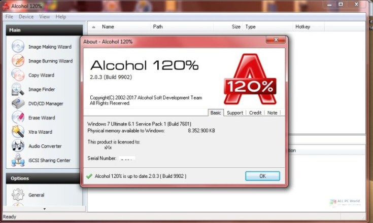 Alcohol  20-2.1 Free Download