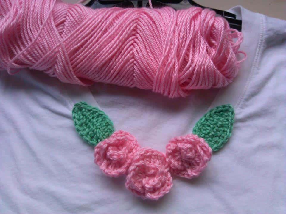 Crochet Rose Embellishment Make Plain Items Come To Life All