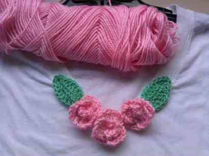 Photo of Crochet Rose Embellishment