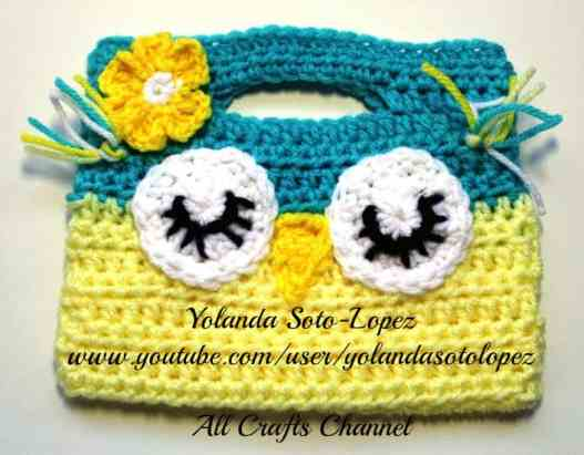 Photo of Crochet Owl Purse