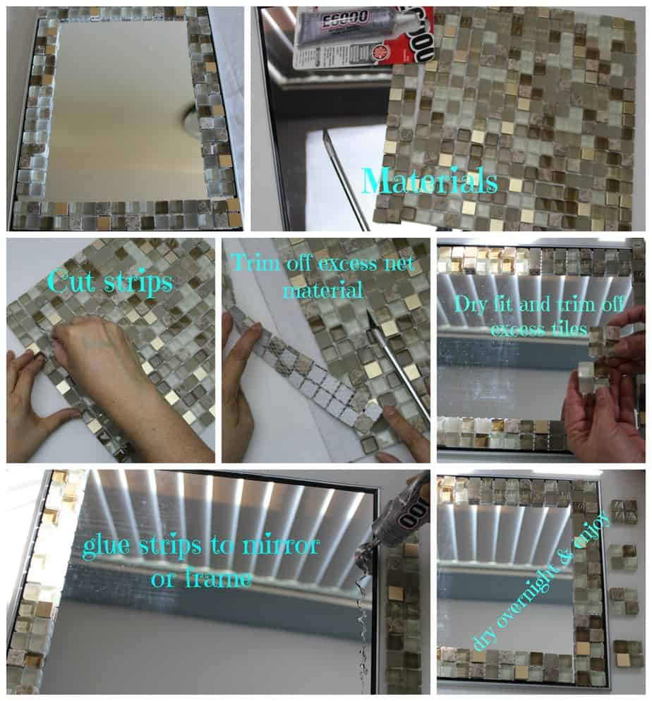 Glass Mosaic Tile Mirror Frame Home Decor All Crafts Channel