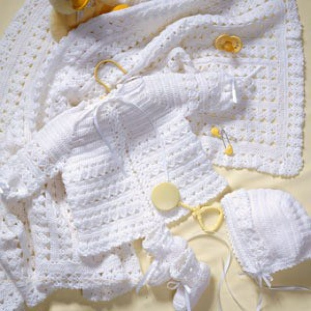 Cal Crochet Along Announcement Baby Layette Set All Crafts Channel