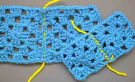 photo for sewing crochet squares together