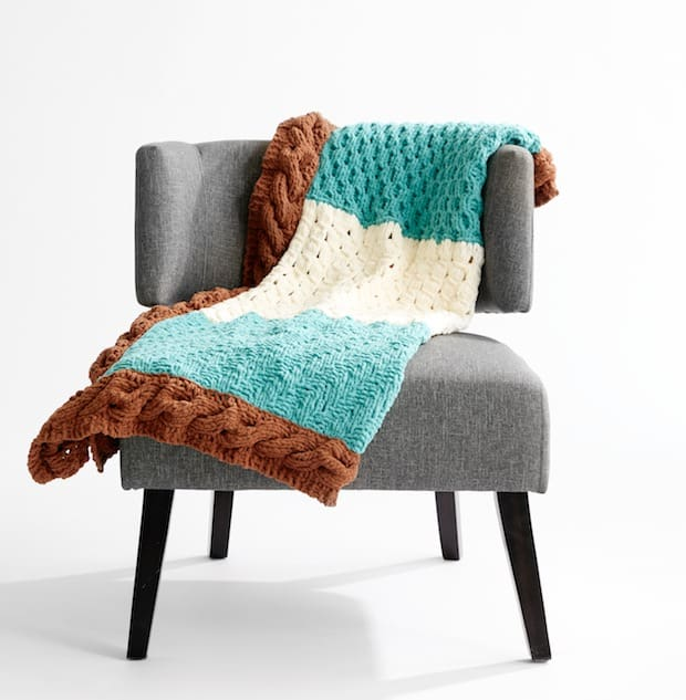 Bernat Stitch-Along Knit Blanket