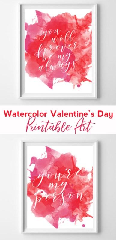 watercolor printables