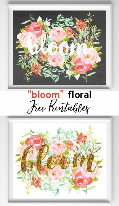 bloom printables
