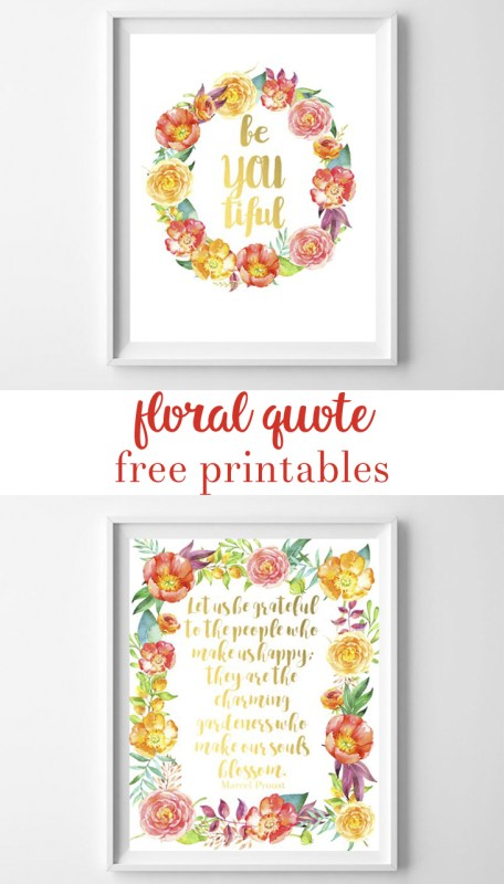 floral quote printable art