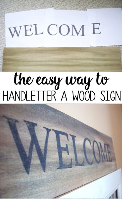 how to hand letter wood sign