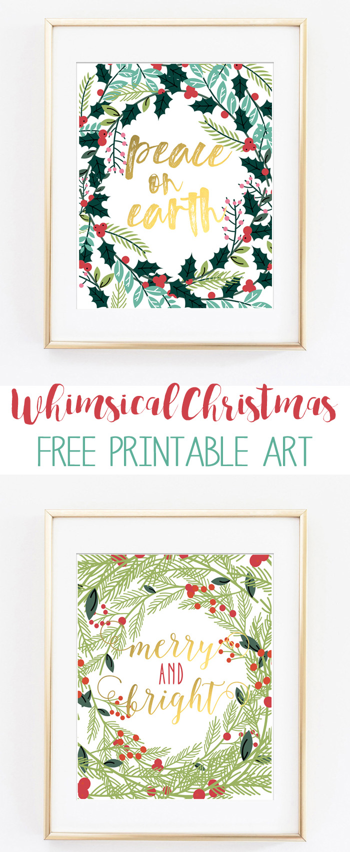 image regarding Free Printable Decor known as Xmas Absolutely free Printables Xmas Wall Artwork Decor