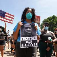 Peaceful protests over George Floyd's death continue