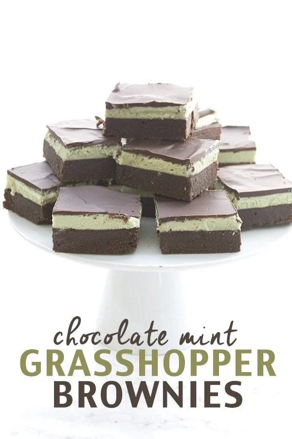 Keto Grasshopper Brownies