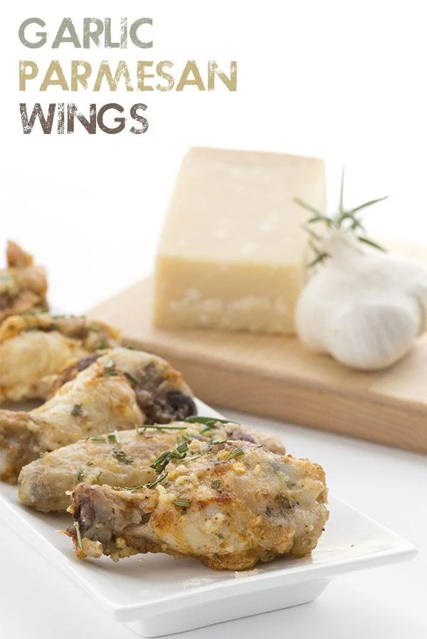 Seriously crispy oven-baked Garlic Parmesan Wings