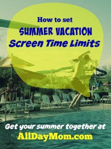 How To Limit Kids' Screen Time During Summer Vacation Out Of The Gate