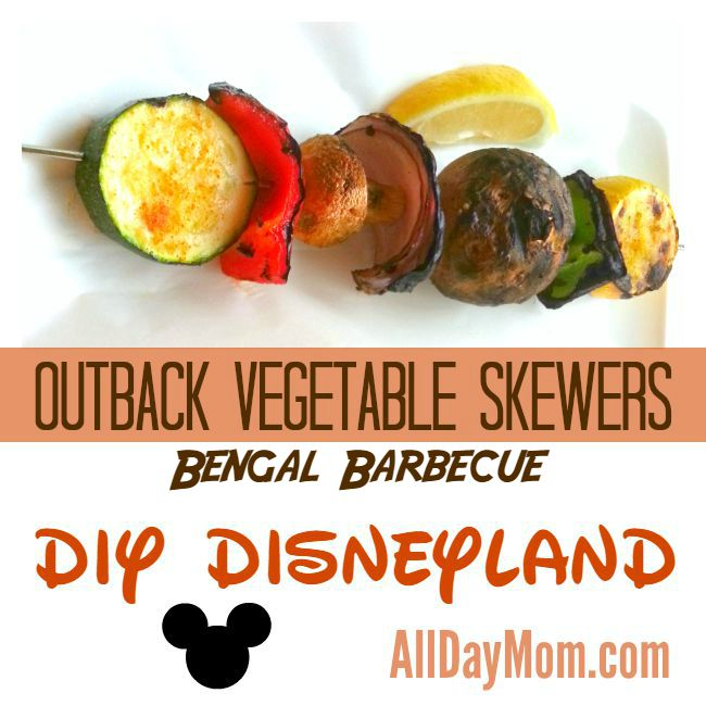 Disneyland Bengal Barbecue Recipe – Veggie Skewers – Plus a Free Printable Shopping List!