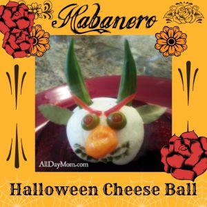 Halloween Cheese Ball Devil and Habanero Cheese Recipe
