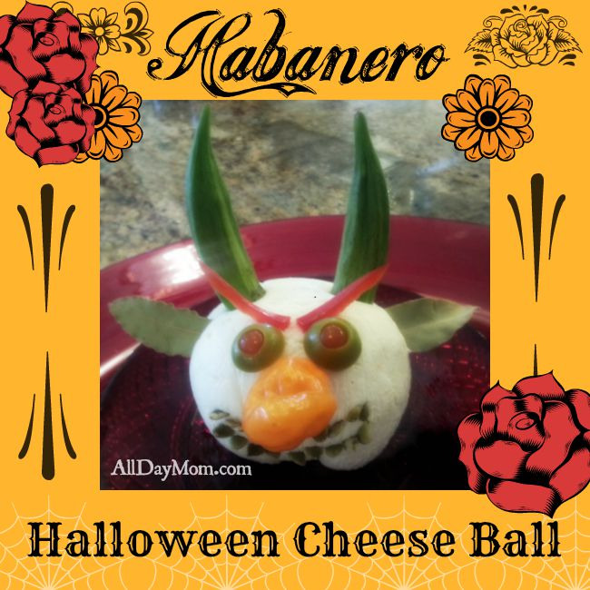 Halloween Cheese Ball Devil and Habanero Cheese Recipe