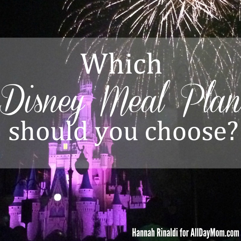 Which Disney Dining Plan Should You Use? Pick the best Disney Dining plan for your vacation budget at All Day Mom! Disney Dining / Disney Meal Plan WDW Tips!