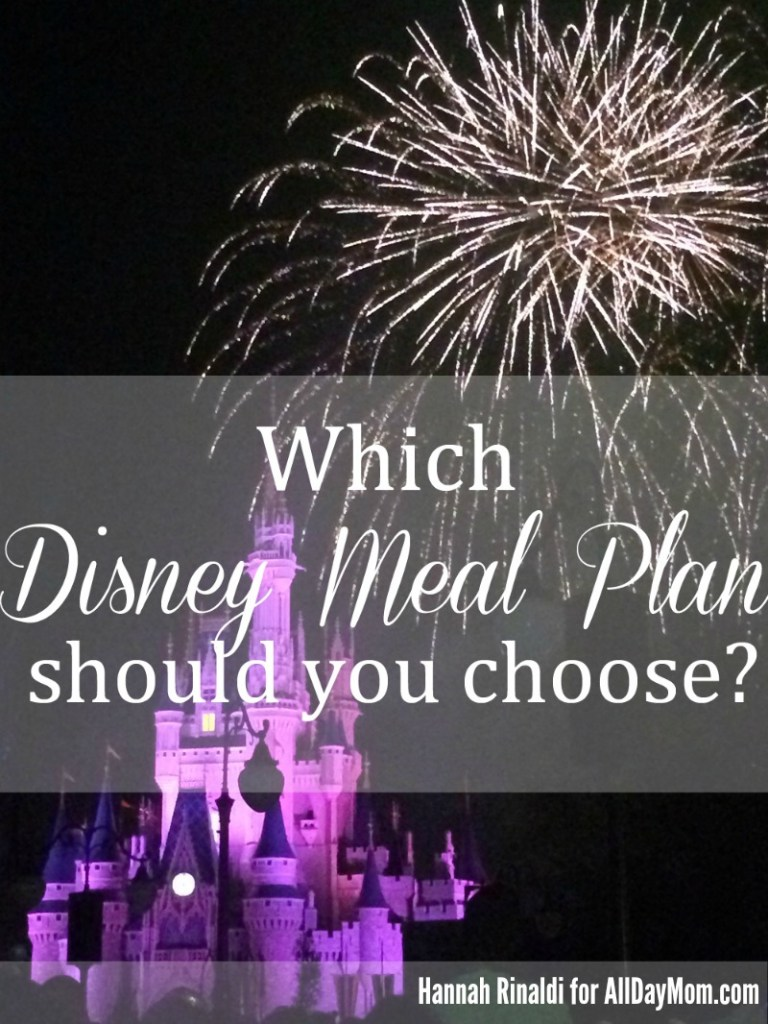 Which Disney Dining Plan Should You Choose? Pick the best Disney Dining plan for your vacation budget at All Day Mom! Disney Dining / Disney Meal Plan WDW Tips!