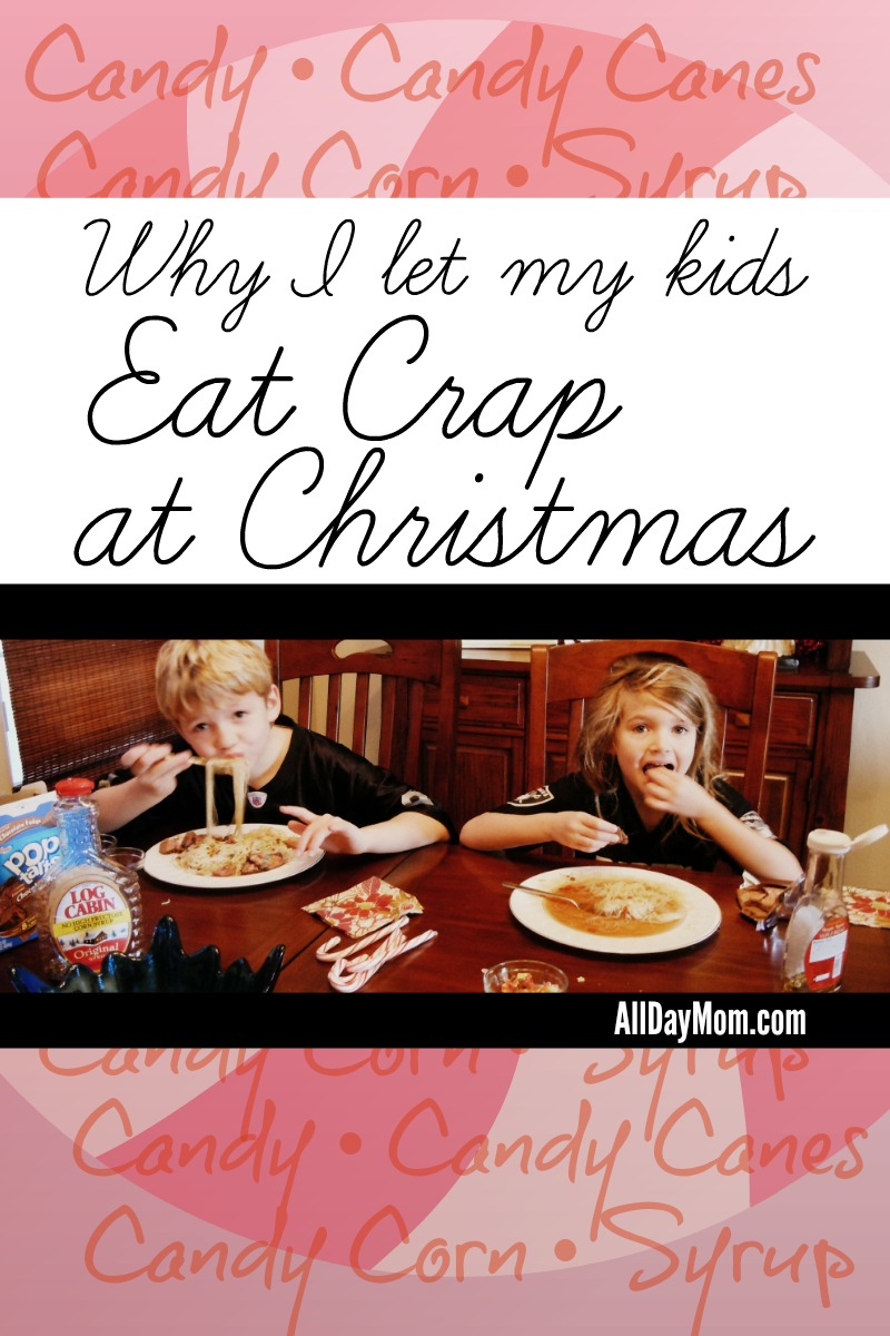 Why I let my kids eat crap at Christmas at All Day Mom - Kids and sugar