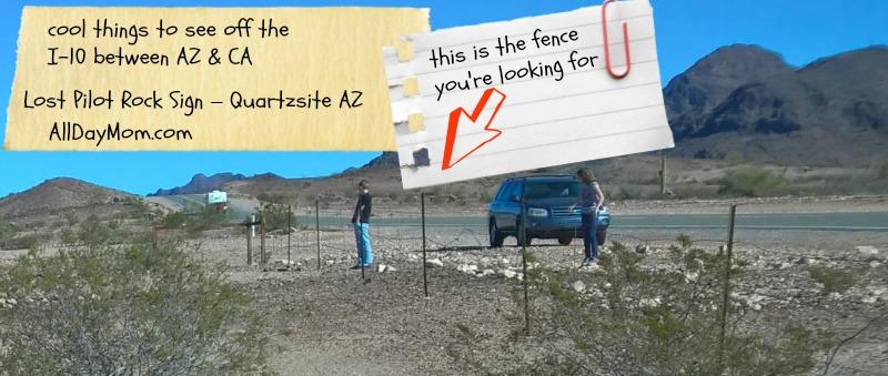 Lost Pilot Rock Sign Quartzsite, AZ - Roadside attractions off the I-10 between AZ and CA #roadtrip