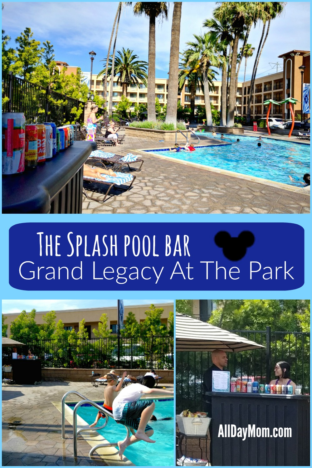 Grand Legacy just reached resort status! The Splash pool bar is open! #Disneyland #hotel #familytravel